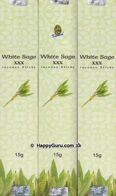 """White Sage XXX Triple Strength"" 3 Packets Kamini Masala Incense Sticks 3x15g ॐ"