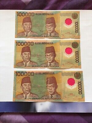 Outmoded IDR100k Bank Note. Ideal For Collection.