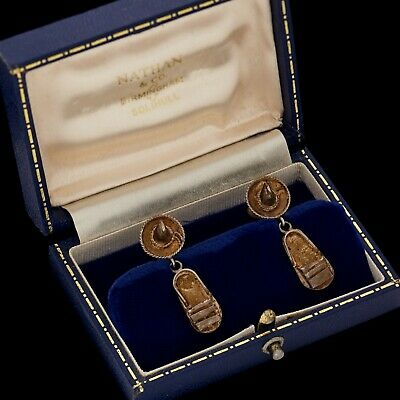 Antique Vintage Deco Retro Sterling Silver Mexican TAXCO Articulated Earrings
