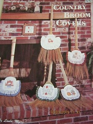 Broom Covers Crossstitch Patterns 5 Different Patterns