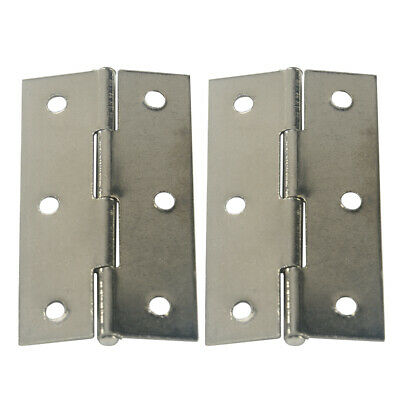 AU Pair Quality Hinges Small-Large Door Gate Cabinet Cupboard - Stainless Steel