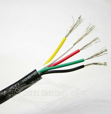 Flexible Points & Signal Cable Multicore Wire Small Power Data AUTO CAR 5 Cores