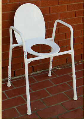 OVER THE TOILET ALUMINIUM FRAME WITH SEAT & LID RATED 205kg