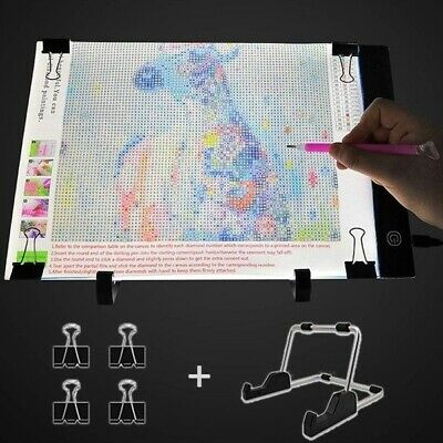 Diamond Painting A4 LED Light Box- Jusoney Dimmable Light Board Kit for 5D Art
