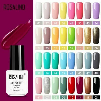 ROSALIND 58 Color Nail Gel LED UV Polish Manicure Semi Permanent Nail Art