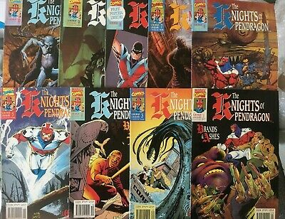 Knights Of Pendragon Lot Volume 1. 1-10. 9 Issues Run. Missing No.2. 1990.