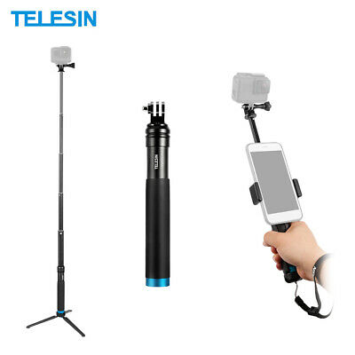 TELESIN Handheld Extendable Selfie Stick Monopod Aluminum Alloy Adjustable Q9Q2