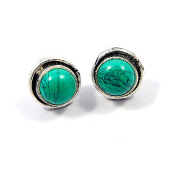 Turquoise .925 Silver Plated Handmade Stud Earring Jewelry JC8160