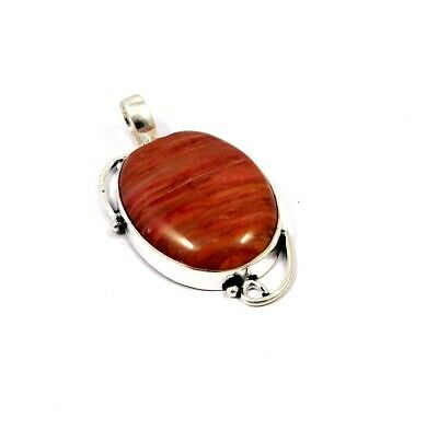 Pink Calcite .925 Silver Plated Handmade Pendant Jewelry JC9756