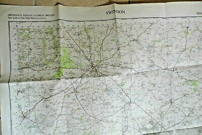 Swindon 1960 map ordnance survey vintage sheet