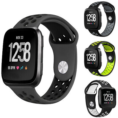 HB- Breathable Silicone Replacement Watch Band Wristband Strap for Fitbit Versa