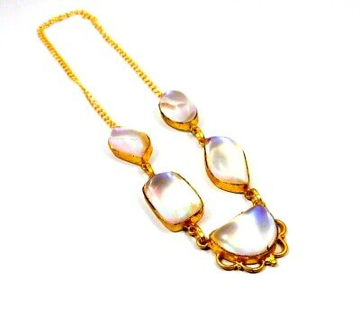 Window Druzy Agate Gold Plated Necklace Fashion Jewelry Festival Gift A1022