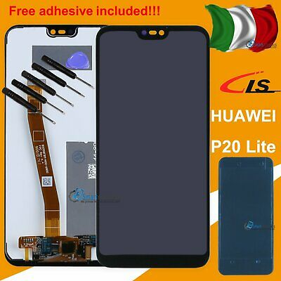 Per Huawei P20 Lite Ane-Lx1 Display Lcd Touch Screen Schermo Monitor Vetro Nero