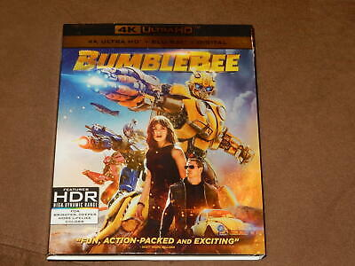 """""""bumblebee"""" 4K Ultra Hd & Blu-Ray W/slipcover Mint Condition """"transformers"""""""