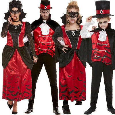 Family Vampire Costumes Halloween Fancy Dress