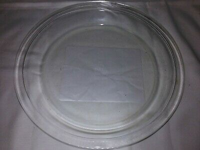 """RARE Vtg. Pyrex Pie Plate 10"""" Clear Deep Dish #210 Flat Rim With Early Mark USA"""