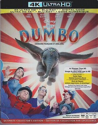 DISNEY DUMBO (2019) 4K ULTRA HD & BLURAY & DIGITAL SET with Michael Keaton