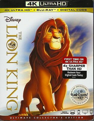 DISNEY THE LION KING 4K ULTRA HD & BLURAY & DIGITAL SET with James Earl Jones