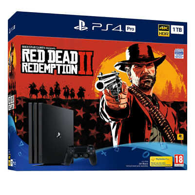 Sony Playstation Ps4 Pro 1Tb Console + Red Dead Redemption New Uk Seller