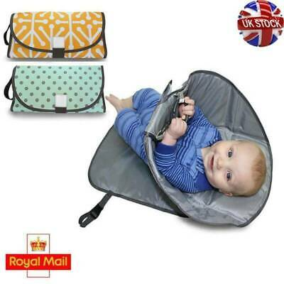 UK Deluxe 3in1 Portable Clean Hands Changing Pad Diaper Clutch Changing Station