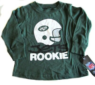 NY Jets Football Team Top Shirt Boys Green 2 Toddler Helmet Rookie