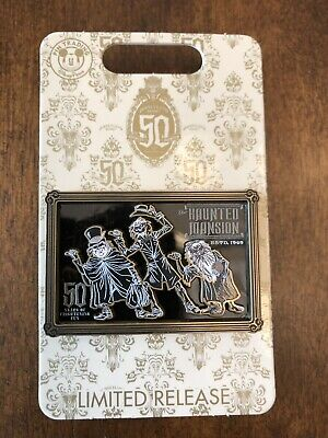 Disney HAUNTED MANSION 50th Hitchhiking Ghosts Event Logo Pin ~SOLD OUT~