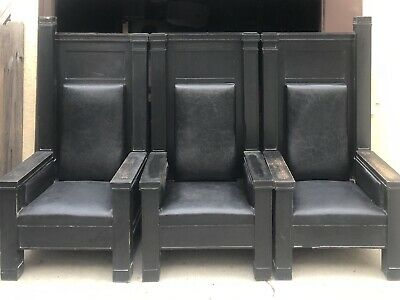 """3 Antique """"Throne"""" Chairs circa 1900- 1940? Originally from the midwest."""