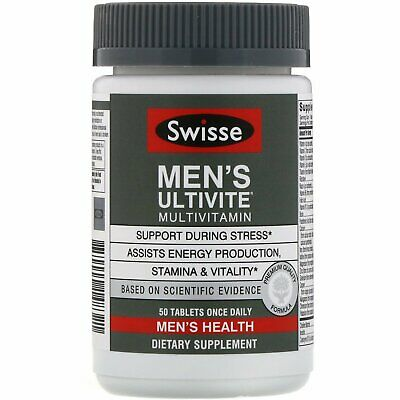 Swisse Men's Ultivite Multivitamin 50 Tablets