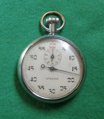 Vintage STADION Chrome Cased Stop Watch