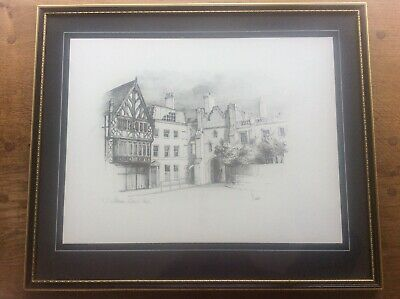 J Steven Dews Pencil Signed Limited Edition Drawing EtchIng Print Beverley Bar