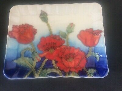 """Superb Small Old TUPTON Ware Tubelined Pottery Tray + Original Label 3"""""""