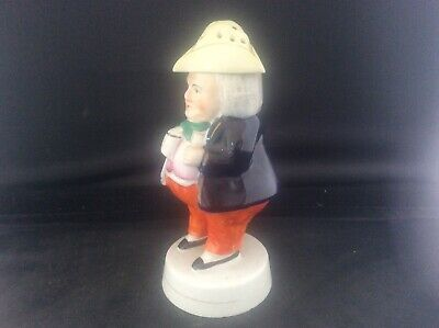 """Antique c19th Victorian Staffordshire Pottery Toby Jug Pepperette 5.75"""" tall No1"""