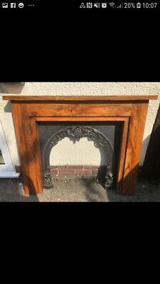Victorian Reproduction Cast Iron Fireplace and solid wood surround