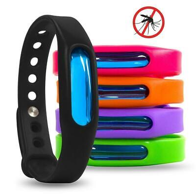 5PC Anti Mosquito Bug Repellent Wrist Band Bracelet Insect Bug Lock Means JL