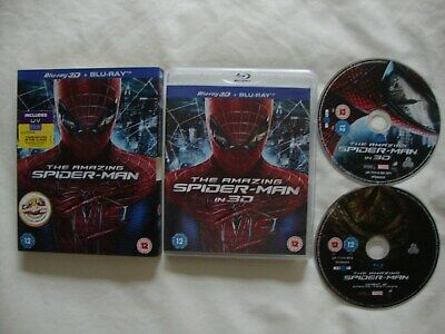 The Amazing Spider-Man (3D & 2D Blu-Ray, 2-Disc Set) With Cover Sleeve (2012)
