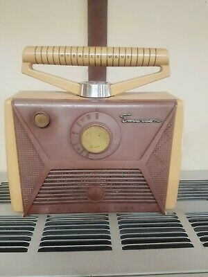 1957 Emerson Miracle Wand Transistor Radio In Good Shape Model 868