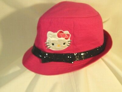 d9bcead9a HELLO KITTY BLACK Fedora Hat Kids Size Small - $8.99 | PicClick
