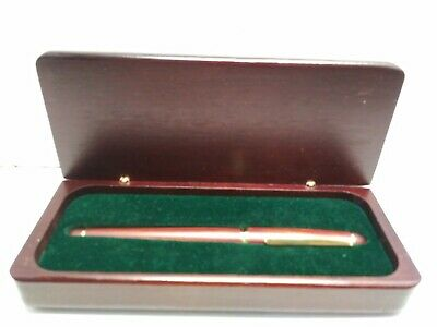 Vintage Hauser pen West Germany RoseWood/ mahogany case and gold tone color VGUC