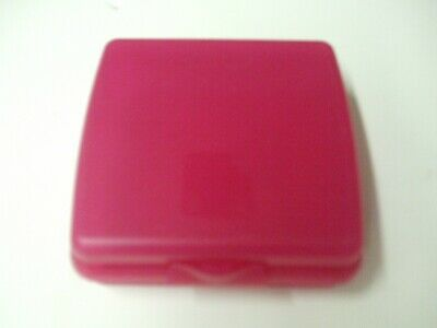 Tupperware Square Dark Pink Sandwich Bagel Fruit Keeper Container 3752