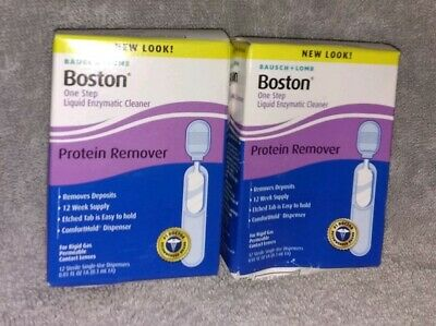 EXP 03/2019* Bausch Lomb Boston One Step Liquid Protein Remover 12 Vials 2 Pack