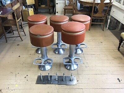 5-vintage Restaurant Stools By L & B Product Corp Stottville N.Y.