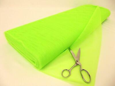 Dress Net 100% Polyester Tulle Fabric Material - FLO GREEN