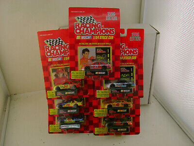 7 1996 Edition Racing Champions 1:64 Scale Nascar Stock Cars New On Cards