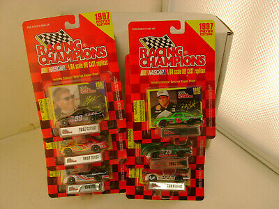 6 1997 Preview Edition Racing Champions 1:64 Scale Nascar Stock Cars New O Cards
