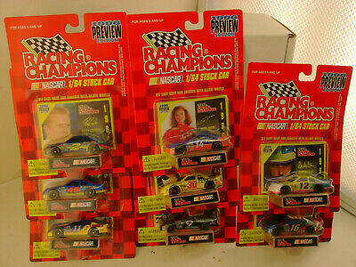 8 1996 Preview Edition Racing Champions 1:64 Scale Nascar Stock Cars New O Cards
