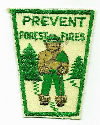 Smokey The Bear Prevent Forest Fires Lot Of 3 Vintage Embroidered Green Patches