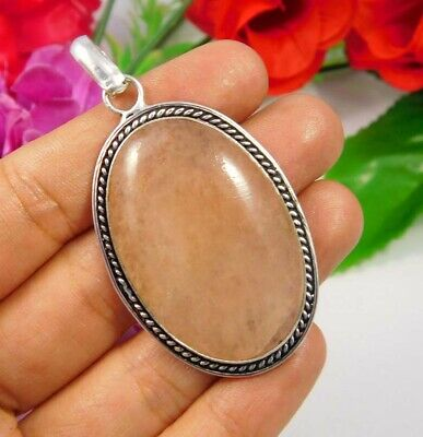 Cherry Quartz  .925 Silver Plated Handmade Designer Pendant Jewelry JC3748