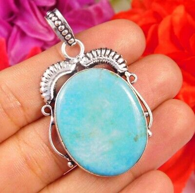 Dashing Turquoise .925 Silver Plated Handmade Pendant Jewelry JC2469