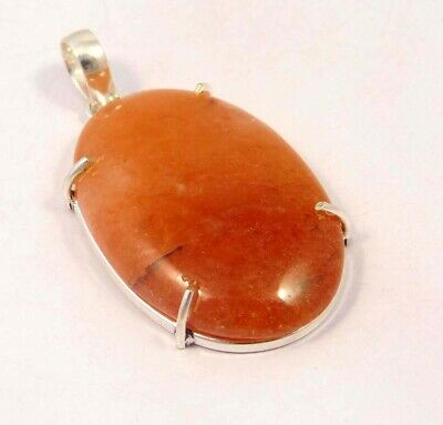 Cherry Quartz .925 Silver Plated Handmade Pendant Jewelry JC6097
