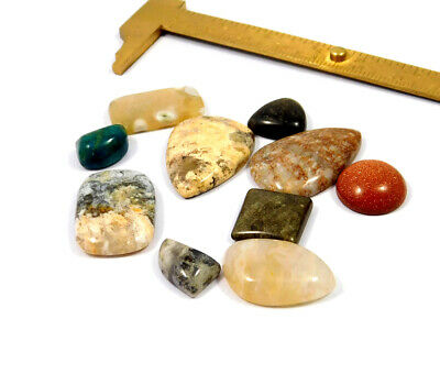 107 Cts. 100% Natural Lot Of Mix Stone Loose Cabochon Gemstone NG21145